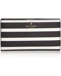 Kate Spade | Hyde Lane Stacy Stripe Wallet | Lyst
