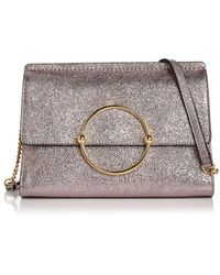 MILLY - Flap Leather Crossbody - Lyst
