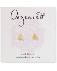 Dogeared - Open Triangle Stud Earrings - Lyst