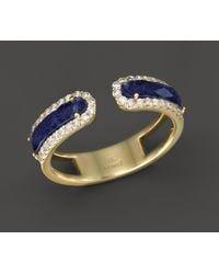 Meira T - 14k Yellow Gold Lapis Ring With Diamonds - Lyst