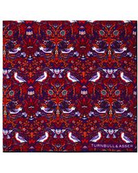 Turnbull & Asser - Floral Birds Pocket Square - Lyst