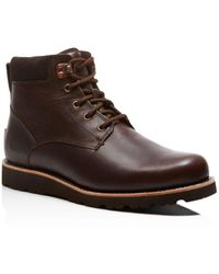 9c214f8a66f UGG Seton Tl Waterproof Leather Lace Up Boots in Black for Men - Lyst