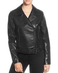 T Tahari - Faux-leather Moto Jacket - Lyst
