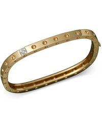 Roberto Coin - 18k Yellow Gold Pois Moi Single Row Diamond Bracelet - Lyst