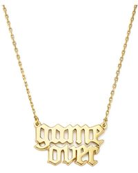Bing Bang - Game Over Necklace - Lyst