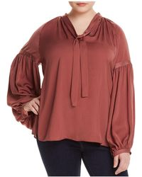 Lucky Brand - Tie-neck Blouson-sleeve Top - Lyst