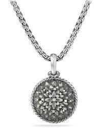 David Yurman - Lotus Amulet With Diamonds - Lyst