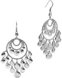 John Hardy | Women's Palu Silver Disc Chandelier Earrings | Lyst