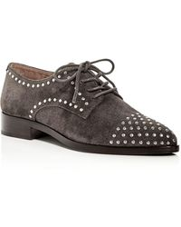 Frye - Erica Stud Embellished Suede Lace Up Oxfords - Lyst