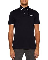 Ted Baker - Jelly Flat Knit Regular Fit Polo - Lyst