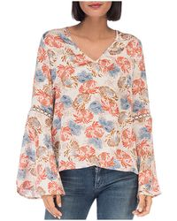 B Collection By Bobeau | Jamyee Boho Floral Print Top | Lyst
