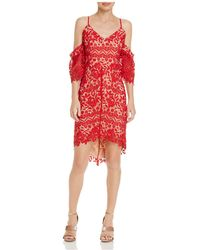 Adelyn Rae - Krista High/low Lace Dress - Lyst