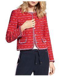 Basler - Embroidered Crop Jacket - Lyst