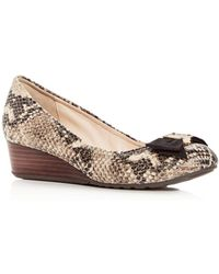 Cole Haan - Women's Tali Snake - Embossed Leather Demi - Wedge Court Shoes - Lyst