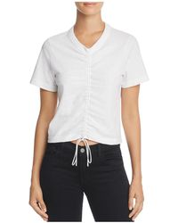 T By Alexander Wang - Ruched Short Sleeve Tee - Lyst