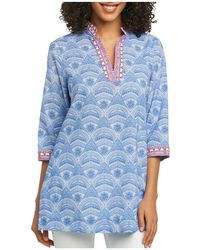 Foxcroft - Angelica Wrinkle-free Printed Tunic - Lyst