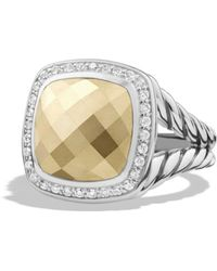 David Yurman - Albion Ring With Gold Dome And Diamonds With 18k Gold - Lyst