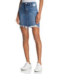 Joe's Jeans - Frayed Denim Skirt In Skyler - Lyst