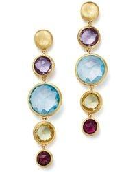 Marco Bicego - 18k Yellow Gold Jaipur Multicolored Gemstone Drop Earrings - Lyst