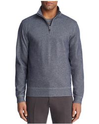 Brooks Brothers - Knit Double Face Quarter-zip Sweater - Lyst