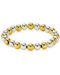 Aqua - Beaded Stretch Bracelet - Lyst