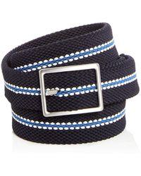 Bloomingdale's - Woven Stretch Stripe Reversible Belt - Lyst