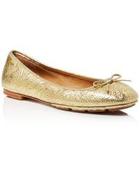 e7eea1a9722 Tory Burch - Women s Laila Leather Driver Ballet Flats - Lyst