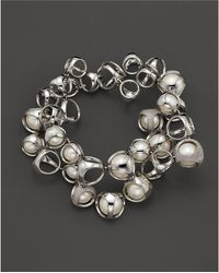 "Di Modolo - Freshwater Pearls And Diamonds ""icon"" Bracelet - Lyst"