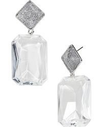 BaubleBar - Liva Faceted Lucite Drop Earrings - Lyst