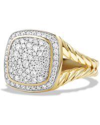 David Yurman | Albion Ring With Diamonds In 18k Gold | Lyst
