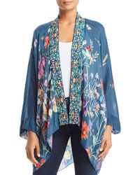 Johnny Was - Embroidered Floral-print Kimono - Lyst