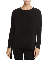 C By Bloomingdale's - Lace-up Cashmere Sweater - Lyst