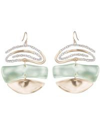Alexis Bittar - Pavé Spiral Drop Earrings - Lyst