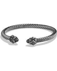 David Yurman - Renaissance Bracelet With Black Diamonds In Silver - Lyst