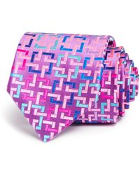 Robert Talbott - Bright Interlocking Squares Classic Tie - Lyst