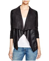 MICHAEL Michael Kors - Draped Faux Leather Cardigan - Lyst