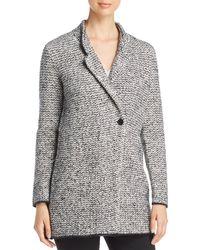 Eileen Fisher - Textured Notch Collar Coat - Lyst