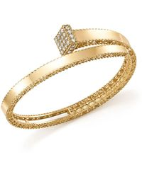 Roberto Coin - 18k Yellow Gold Princess Chiodo Diamond Bangle - Lyst