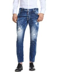 DSquared² - Sexy White Spots Wash Slim Fit Jeans In Blue - Lyst