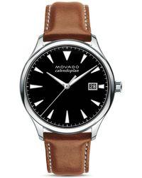 Movado - Heritage Calendoplan Watch - Lyst