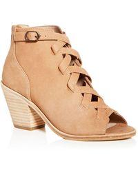 Eileen Fisher - Women's Tumbled Nubuck Leather Mid-heel Booties - Lyst