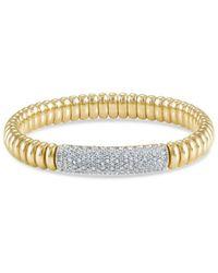 Hulchi Belluni - 18k Yellow Gold Tresore Pavé Diamond Bracelet - Lyst