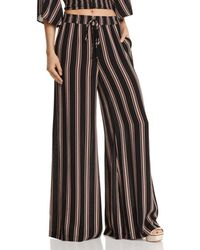 Re:named - Quinn Striped Wide-leg Trousers - Lyst