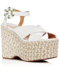 Marc Jacobs - Women's Rowan Leather Espadrille Platform Wedge Sandals - Lyst
