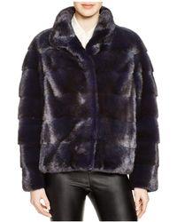 Maximilian - Maximilian Grooved Mink Fur Coat - Lyst