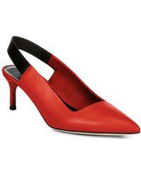 Via Spiga - Women's Blake Leather Slingback Kitten Heel Court Shoes - Lyst