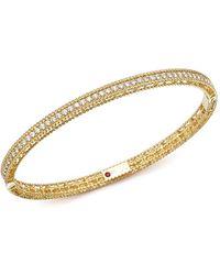 Roberto Coin | 18k Yellow Gold Symphony Braided Bangle Bracelet With Diamonds | Lyst