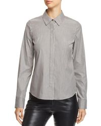 Lafayette 148 New York - Phaedra Metallic Striped Blouse - Lyst