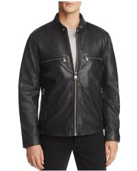 Marc New York - Bedford Leather Moto Jacket - Lyst