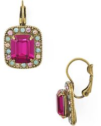 Sorrelli - Opulent Octagon Drop Earrings - Lyst